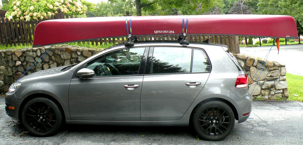 Thule Rack With 16u0027 Wenonah Adirondack Canoe.